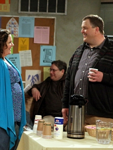 "Billy Gardell and Melissa McCarthy in CBS's ""Mike & Molly"""