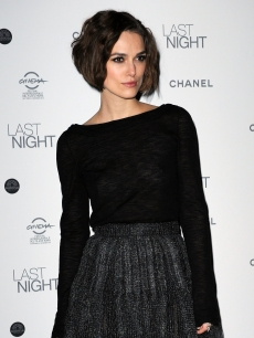 "Keira Knightley attends the ""Last Night"" dinner party during The 5th International Rome Film Festival at Casina Valadier, Rome, Italy, October 28, 2010"