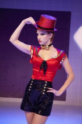 "Brittany (Heather Morris) performs in ""The Rocky Horror Glee Show"" episode of ""Glee"" airing Tuesday, Oct. 26, 2010 on FOX"