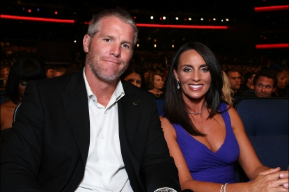 Brett Favre and wife Deanna Favre attend the 2008 ESPY Awards held at NOKIA Theatre L.A. LIVE on July 16, 2008 in Los Angeles