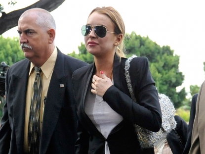 Lindsay Lohan Arrives At Court (October 22, 2010)