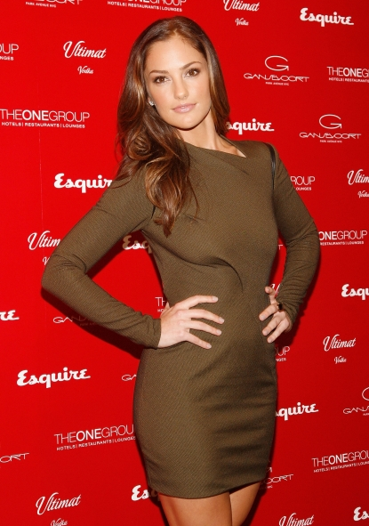 Minka Kelly celebrates Esquire's Sexiest Woman Alive at Plunge at The Gansevoort Park Hotel in New York City on October 27, 2010