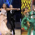 "Bristol Palin and partner Mark Ballas (left) and Rick Fox with partner Cheryl Burke (right) on ""Dancing with the Stars,"" Nov. 2010"