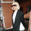 Lady Gaga spotted in fabulous fall fashion leaving her hotel in London on November 5, 2010
