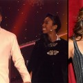 Maksim  Chmerkovskiy and Brandy (left), Judge Carrie Ann Inaba (right)