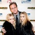 Mary-Kate Olsen, Bob Saget and Ashley Olsen attend Stand Up For Scleroderma at Carolines On Broadway in New York, City on November 8, 2010 