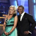 "Lacey Schwimmer and Kyle Massey receive the judges remarks for their Viennese waltz on ""Dancing,"" Nov. 8, 2010"
