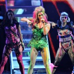 Ke$ha performs onstage during the MTV Europe Music Awards 2010 live show at La Caja Magica in Madrid, Spain, on November 7, 2010