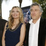 "Michelle Pfeiffer and Robert De Niro pose at the premiere of ""Stardust"" on July 29, 2007 in Los Angeles"