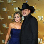 Jason Aldean and guest attend the 44th Annual CMA Awards at the Bridgestone Arena in Nashville, Tennessee, on November 10, 2010
