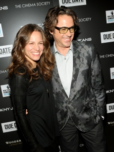 "Susan Downey and Robert Downey Jr. attend a screening of ""Due Date"" hosted by The Cinema Society & DKNY Jeans at AMC Lincoln Square Theater in New York City on November 1, 2010"