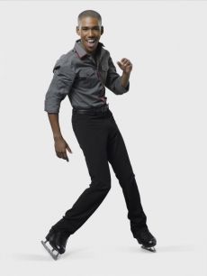 Disney channel&#8217;s Brandon Mychal Smith in his &#8220;Skating with the Stars&#8221; cast shot