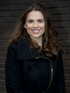 Hayley Atwell, star of the upcoming &#8220;Captain America,&#8221; is spotted leaving the ITV studios, London, November 5, 2010