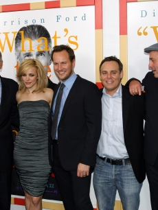 Jeff Goldblum, Harrison Ford, Rachel McAdams, Patrick Wilson, producer Bryan Burk, director Roger Michell and producer Sherryl Clark attend the New York Premiere of 'Morning Glory' at Ziegfeld Theatre on November 7, 2010 in New York City.