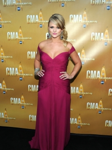 Miranda Lambert attends the 44th Annual CMA Awards at the Bridgestone Arena in Nashville, Tennessee, on November 10, 2010