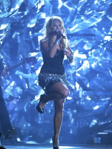 "Miranda Lambert performs ""That's The Way That The World Goes Round"" at the 44th Annual CMA Awards at the Bridgestone Arena, Nashville, November 10, 2010"