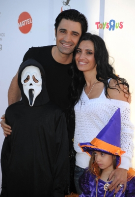 Gilles Marini, wife Carole and family are all smiles at the Children Affected By AIDS Foundation's 17th Annual Dream Halloween Event at Barker Hanger in Santa Monica on October 30, 2010