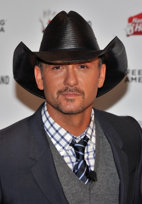 Tim McGraw attends a press conference to announce Feeding America & Tim McGraw Partnership at BLT Market At The Ritz-Carlton Hotel, NYC, November 4, 2010
