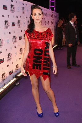 Katy Perry attends the MTV Europe Awards 2010 at the La Caja Magica in Madrid, Spain, on November 7, 2010  