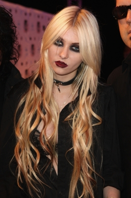 Taylor Momsen attends the MTV Europe Awards 2010 at the La Caja Magica in Madrid, Spain, on November 7, 2010
