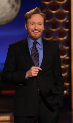 "Conan O'Brien gives his first ever monologue for his new late night show, ""Conan"" on TBS, Los Angeles, Nov. 8, 2010"