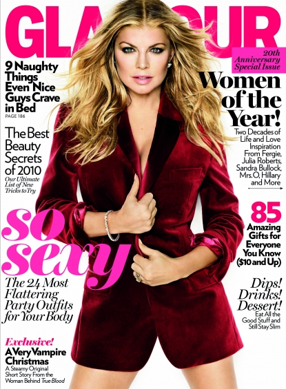 Fergie on the cover of Glamour's Women Of The Year 2010 issue