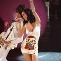 Katy Perry rocks out in a gumball dress at BBC Radio 1's Teen Awards 2010 held at Hammersmith Apollo in London on November 14, 2010