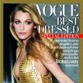 Blake Lively on the cover of Vogue's Best Dressed of 2010 issue