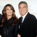 Elisabetta Canalis and George Clooney attend the 2010 Robert F. Kennedy Center for Justice & Human Rights Ripple of Hope Awards Dinner at Pier Sixty at Chelsea Piers in New York City on November 17, 2010
