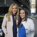 Laura Prepon with Accesshollywood.com&#8217;s Laura Saltman on the set of ABC&#8217;s &#8216;Castle&#8217;