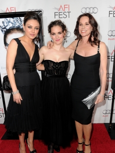 "Mila Kunis, Winona Ryder and Barbara Hershey arrive at the ""Black Swan"" closing night gala during AFI FEST 2010 presented by Audi held at Grauman's Chinese Theatre in Hollywood, California on November 11, 2010"