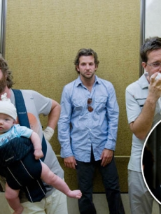 "Zach Galifianakis, Bradley Cooper and Ed Helms in ""The Hangover"" / Bill Clinton"