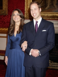 Prince William and Kate Middleton pose for photographs in the State Apartments of St. James Palace in London, England on November 16, 2010