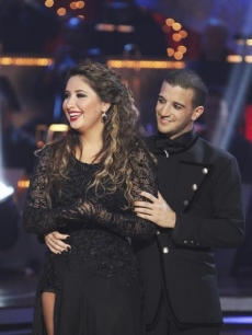 "Bristol Palin and Mark Ballas listen to the judges on ""Dancing,"" Nov. 16, 2010"