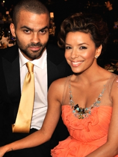 Fresh off the basketball court, Tony Parker joins his wife, Eva Longoria Parker at the 2009 SAG Awards