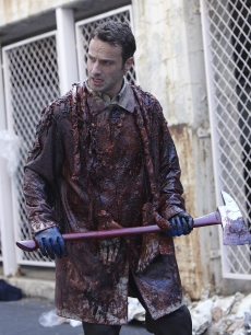 "Andrew Lincoln as Rick Grimes on AMC's breakout show about surviving in a zombie infested world, ""The Walking Dead"""