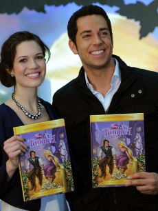 "Mandy Moore and Zachary Levi promote their new movie ""Tangled"" at the Disney Store, NYC, November 19, 2010"