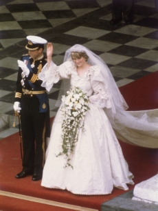 Charles, Prince of Wales, with his wife, Princess Diana (1961 - 1997), on the altar of St Paul's Cathedral during their marriage ceremony, July 29, 1981