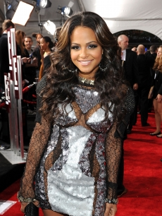 Christina Milian arrives at the 2010 American Music Awards held at Nokia Theatre L.A. Live in Los Angeles on November 21, 2010