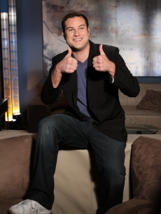 """Glee"" bully Max Adler is pumped for his Access Hollywood Live interview on November 22, 2010"
