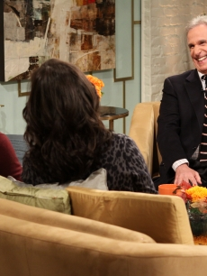 Henry Winkler sits down with Billy Bush and Kit Hoover on Access Hollywood Live on November 22, 2010