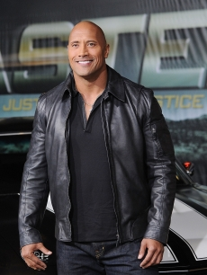 "Dwayne Johnson arrives at the ""Faster"" Los Angeles premiere at Grauman's Chinese Theatre in Hollywood on November 22, 2010"