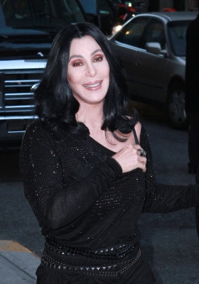 "Cher visits ""Late Show With David Letterman"" at the Ed Sullivan Theater in New York City on November 11, 2010"