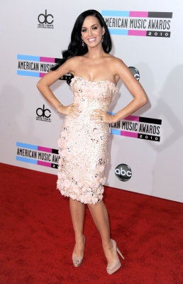 Katy Perry arrives at the 2010 American Music Awards held at Nokia Theatre L.A. Live in Los Angeles on November 21, 2010