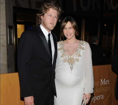 "Renn Hawkey and actress Vera Farmiga attend the 2010-11 season opening night performance of ""Das Rheingold"" at The Metropolitan Opera House in New York City on September 27, 2010"