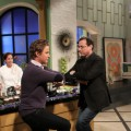 Billy Bush and Bob Saget get their dance on at Access Hollywood Live on December 3, 2010