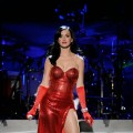 "Katy Perry performs during The USO Presents ""VH1 Divas Salute The Troops"" presented by the USO at the Marine Corps Air Station in San Diego, Calif., on December 3, 2010"