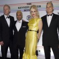 Tom Dumont, Tony Kanal, Gwen Stefani and Adrian Young of No Doubt pose for photos during the 33rd Annual Kennedy Center Honors at the Kennedy Center Hall of States in Washington, D.C. on December 5, 2010