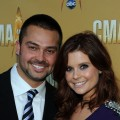 Nick Swisher and JoAnna Garcia attend the 44th Annual CMA Awards at the Bridgestone Arena on November 10, 2010 in Nashville, Tennessee