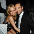 Becki Newton and Chris Diamantopoulos attend the afterparty following the Glamour Women of the Year Awards 2009 in London on June 2, 2009